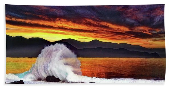 Sea Of Cortez Sunset Beach Towel