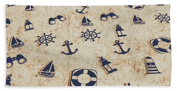 Seafaring Antiques Beach Towel