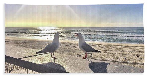Seagull Sonnet  Beach Towel