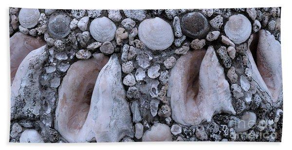 Seashell And Rock Beach Towel