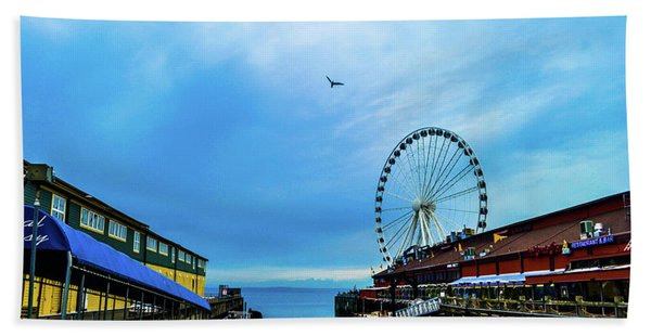 Seattle Pier 57 Beach Towel