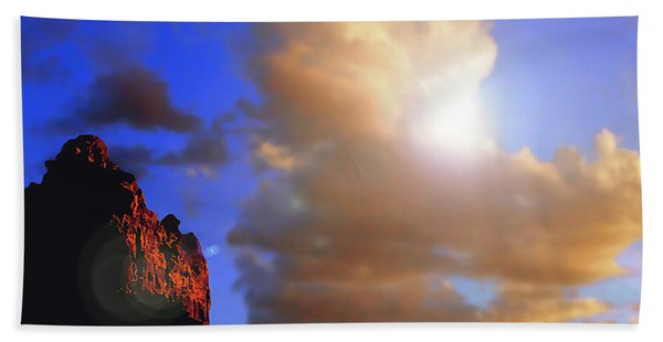 Sedona Mountain Cloud Sun Beach Towel