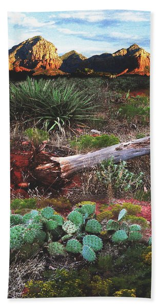 Sedona Mountain Sunrise Beach Towel