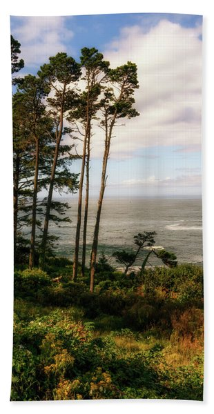 Beach Towel featuring the photograph Serenity At Depoe by Michael Hope