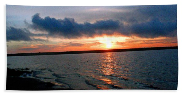 Setting Sun - Big Lagoon Beach Towel