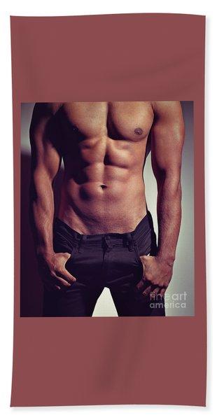 Sexy Male Muscular Body Beach Sheet