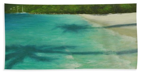 Shadows Over Magens Bay By Alan Zawacki Beach Towel