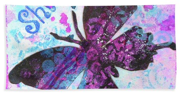 Shine Butterfly Beach Towel