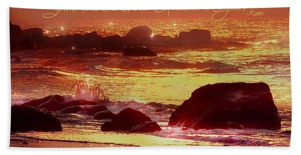 Shine Like The Universe  Beach Towel