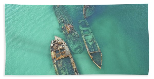 Shipwrecks Beach Towel