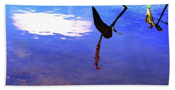 Silhouette Aquatic Fish Beach Towel