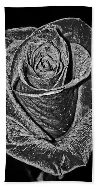 Silver Rose Beach Towel