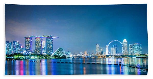 Singapore Panorama Beach Towel