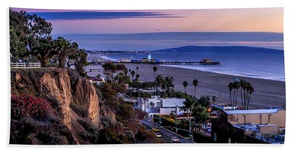 Sitting On The Fence - Santa Monica Pier Beach Sheet