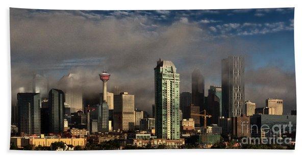 Skyline Fog Beach Towel