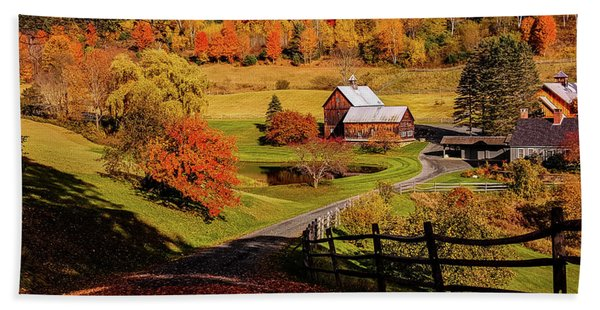 Beach Towel featuring the photograph Sleepy Hollow - Pomfret Vermont-2 by Jeff Folger