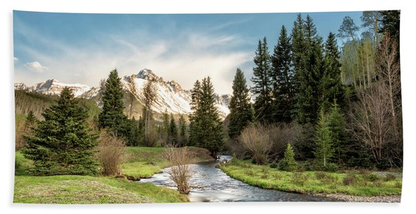 Sneffels And Spring Stream Beach Towel