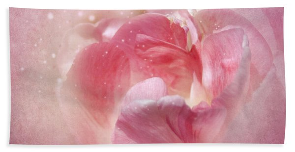 Soft Pink Tulips Beach Towel