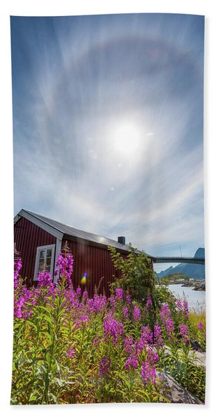 Solar Halo Above Rorbu Beach Sheet