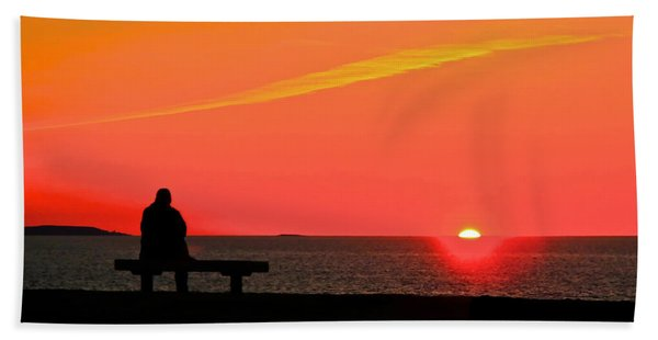 Solitude At Sunrise Beach Towel