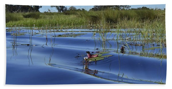 Solitude In The Okavango Beach Towel