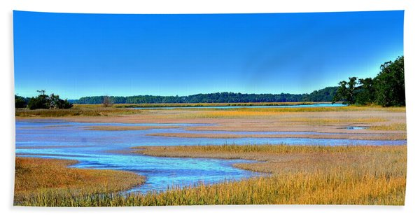 South Carolina Lowcountry H D R Beach Towel