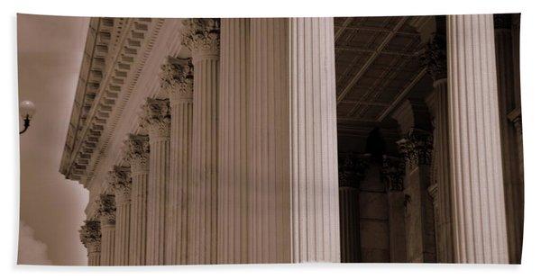 South Carolina State House Columns  Beach Towel
