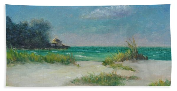 South Lido Morning By Alan Zawacki  Beach Towel