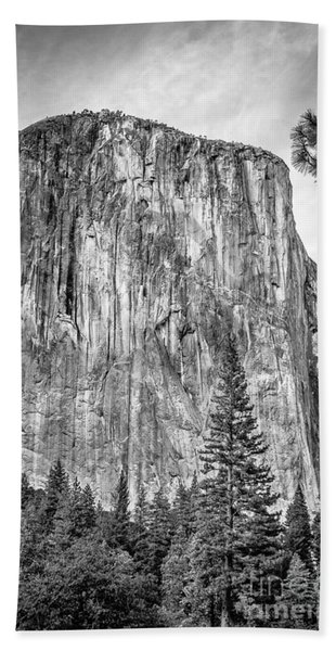 Southwest Face Of El Capitan From Yosemite Valley Beach Towel