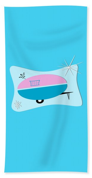 Space Age Camper Beach Sheet
