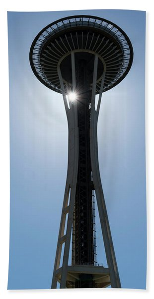 Beach Towel featuring the photograph Space Needle by Michael Hope