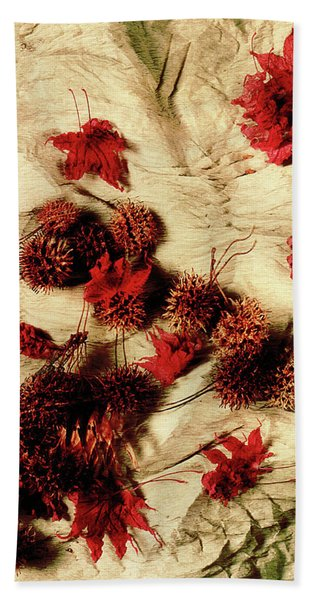 Spiked Nuts Red Beach Towel