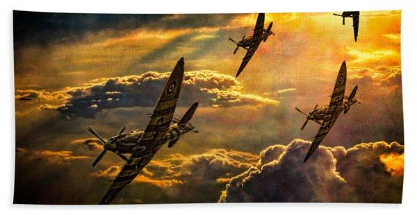 Spitfire Attack Beach Towel