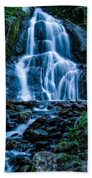 Beach Towel featuring the photograph Spring At Moss Glen Falls by Jeff Folger