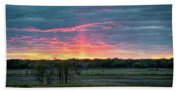 Spring Sunset Beach Towel