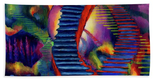 Stairways Beach Towel