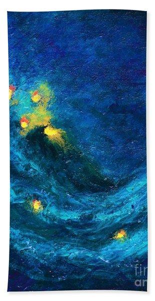 Starry Night Nebula  Beach Sheet