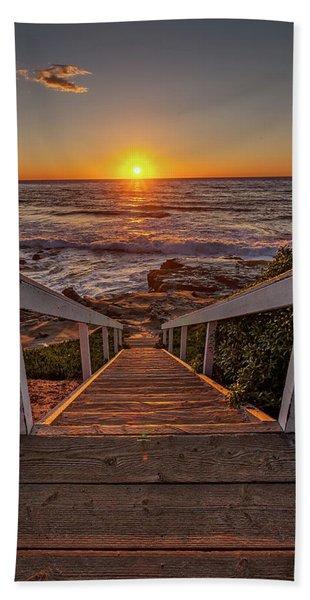 Steps To The Sun  Beach Towel