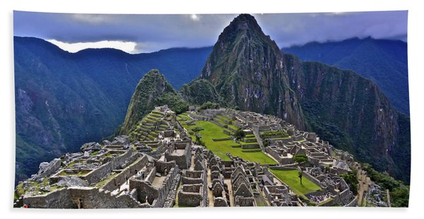 Storm Inbound To Machu Picchu Beach Towel