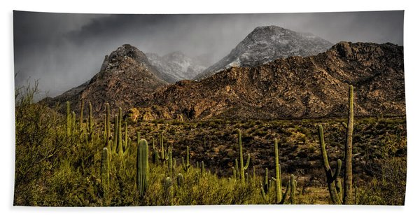 Storm Over Catalinas 15 Beach Towel