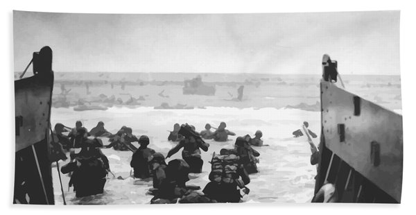 Storming The Beach On D-day  Beach Towel
