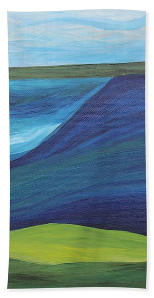 Stormy Lake Beach Towel