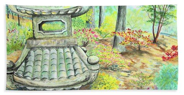 Strolling Through The Japanese Garden Beach Towel