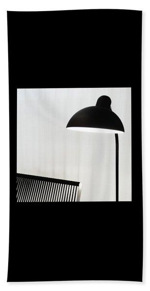 Stylish Black Lamp Beach Towel