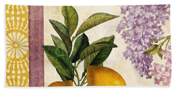 Summer Citrus Lemon Beach Towel