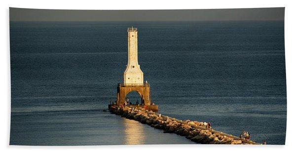 Summer Lighthouse Beach Towel