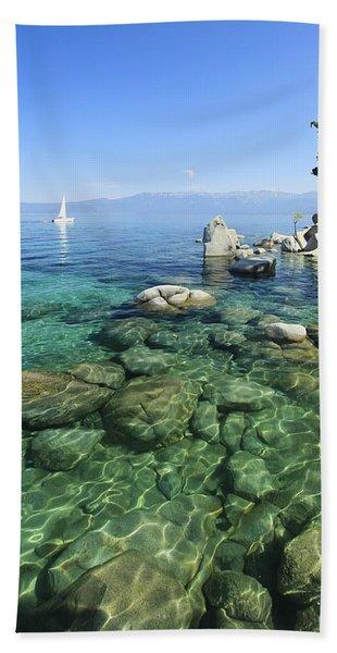 Beach Towel featuring the photograph Summer Sail Portrait by Sean Sarsfield