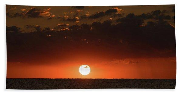 Sun Ball Sunrise Delray Beach Florida Beach Towel