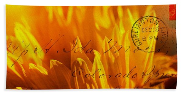 Beach Towel featuring the photograph Sun Flower Envelope by Michael Hope