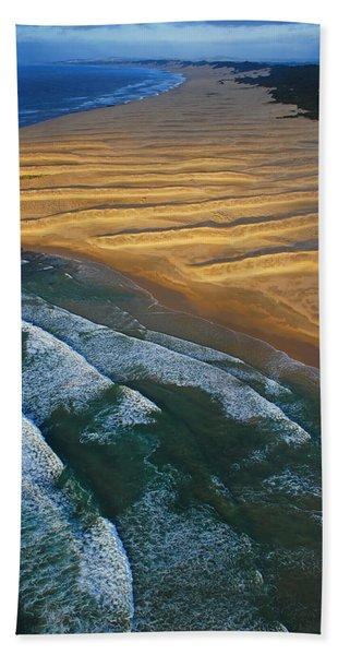 Beach Towel featuring the photograph Sun Rise Coast  by Skip Hunt